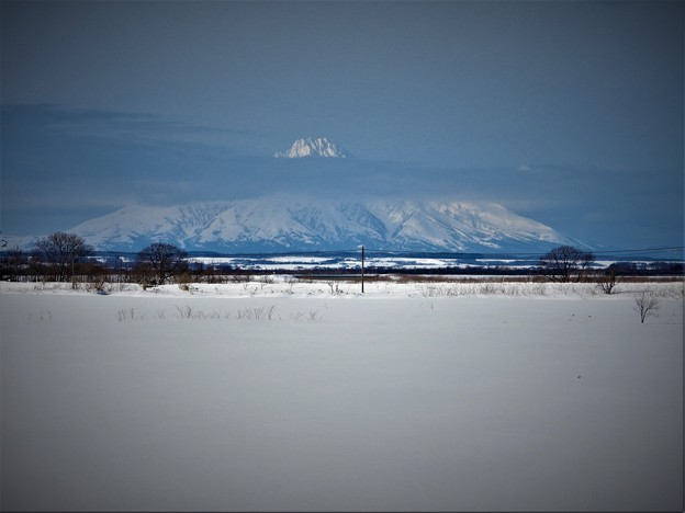 真冬の利尻富士
