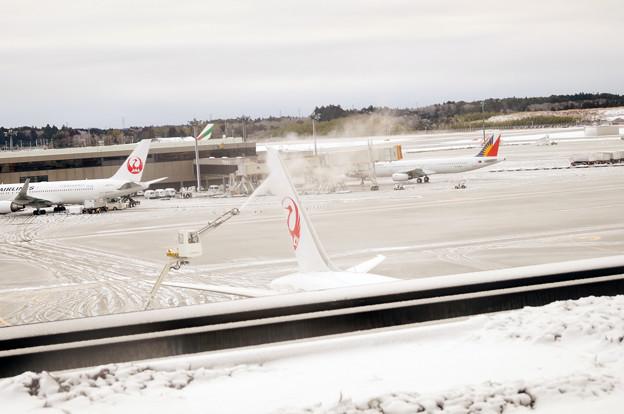 雪の成田空港 #11