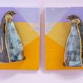 まとって飾れる双子ブローチ コウテイペンギン