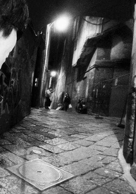 ナポリの裏路地