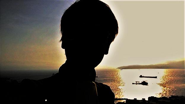 ジブラルタルの海