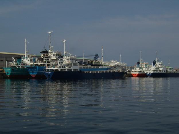 Photos: お盆休み前に集まった内航船たち