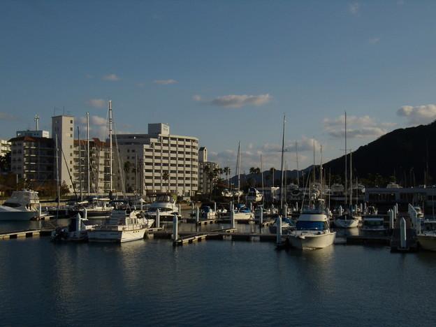 静かな元日のマリーナ - 古茂江にて