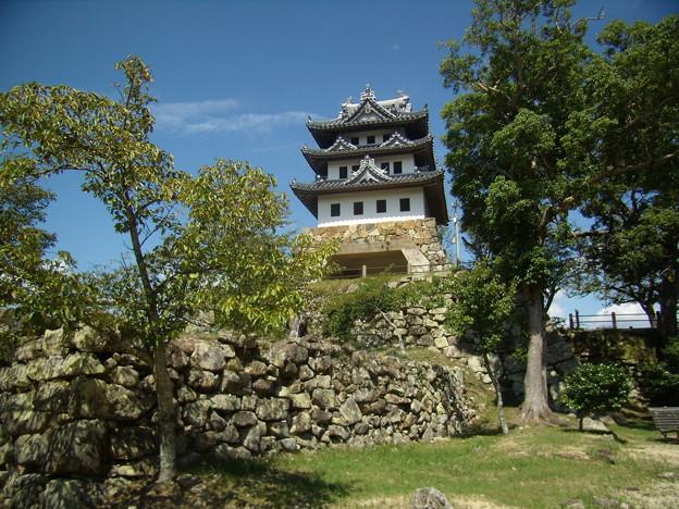 夏の終わりの洲本城