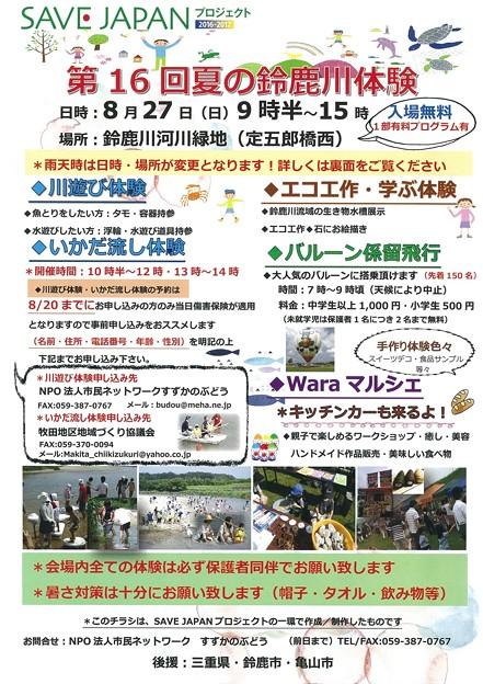 第16回夏の鈴鹿川体験1
