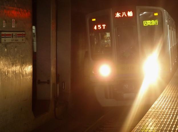 京王新線幡ヶ谷駅2番線 都営10-270F区急本八幡行き進入
