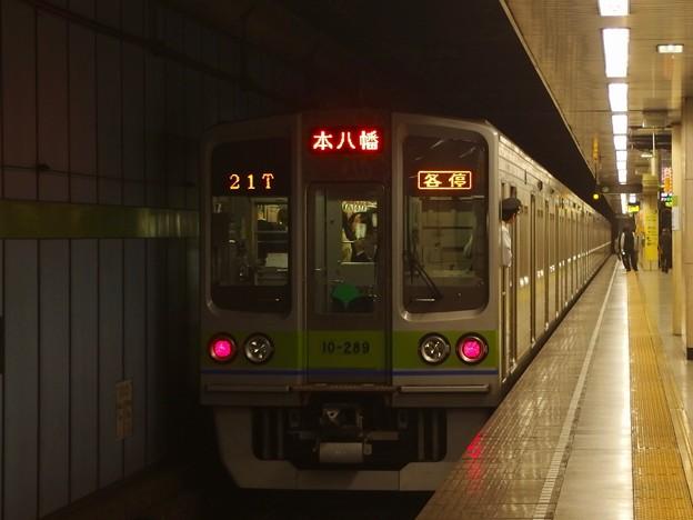 都営新宿線菊川駅2番線 都営10-280F各停本八幡行き前方確認