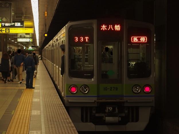 都営新宿線馬喰横山駅2番線 都営10-270F各停本八幡行き前方確認
