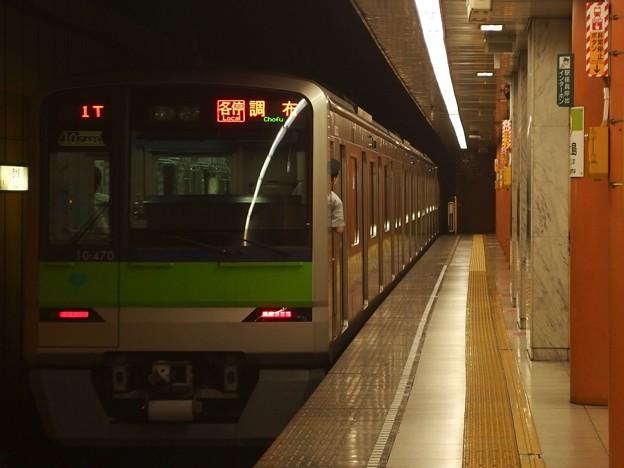 都営新宿線西大島駅1番線 都営10-470F各停調布行き前方確認