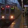 京王新線笹塚駅3番線 都営10-230F快速本八幡行き進入