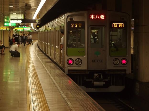 都営新宿線住吉駅2番線 都営10-260F各停本八幡行き前方確認(2)