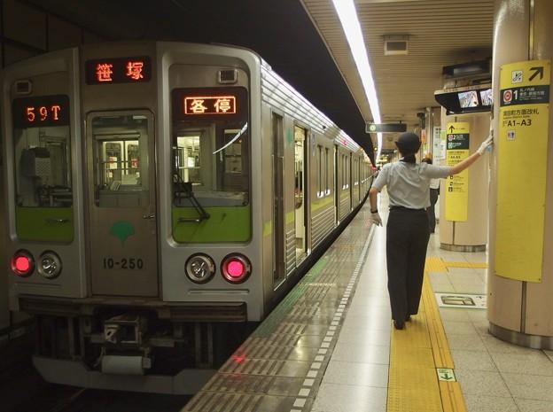 都営新宿線小川町駅3番線 都営10-250F各停笹塚行きベル扱い