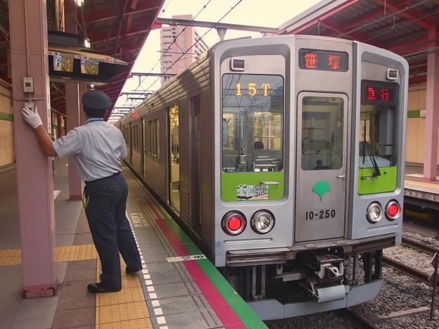 都営新宿線船堀駅1番線 都営10-250F急行笹塚行きベル扱い