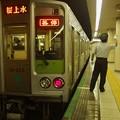 都営新宿線新宿三丁目駅1番線 都営10-220F各停桜上水行き側面よし