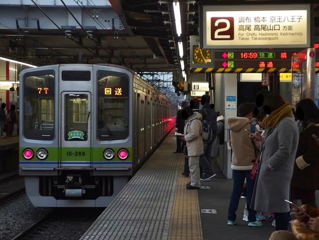 京王線桜上水駅2番線 都営新宿線10-280F各停桜上水行き(2)