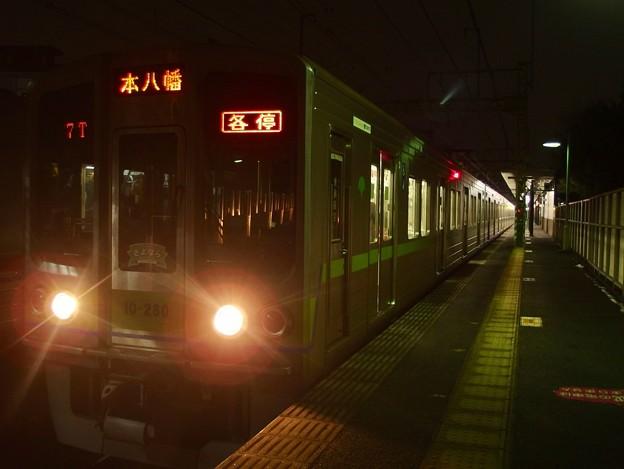 京王線代田橋駅2番線 都営10-280F各停本八幡行き