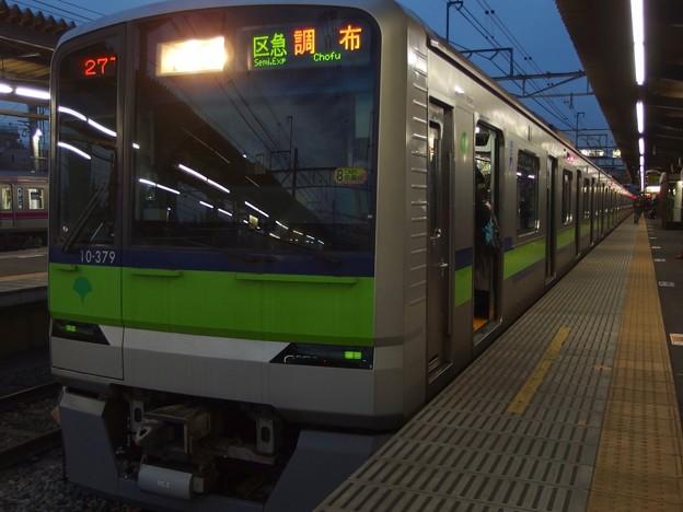 京王線桜上水駅2番線 都営10-370F行き
