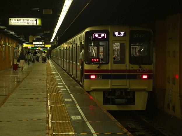 都営新宿線神保町駅1番線 京王9047各停橋本行き前方確認