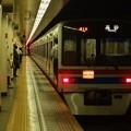 写真: 都営浅草線日本橋駅2番線 京成3448Fエアポート快特高砂行き前方確認(2)