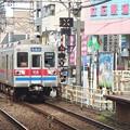 京成押上線立石駅1番線 京成3648F快速西馬込行き通過進入