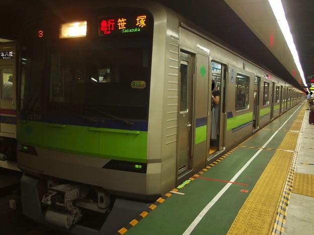 都営新宿線神保町駅1番線 都営10-370F急行笹塚行き
