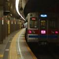 写真: 都営浅草線浅草駅2番線 京成3648快速佐倉行き前方確認
