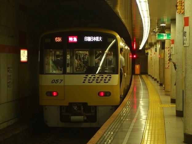 都営浅草線人形町駅4番線 京急1057F特急印旛日本医大行き前方確認