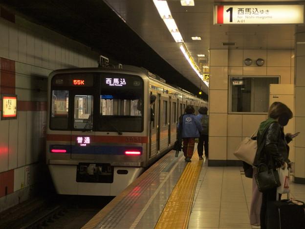 都営浅草線馬込駅1番線 京成3858F普通西馬込行き前方確認