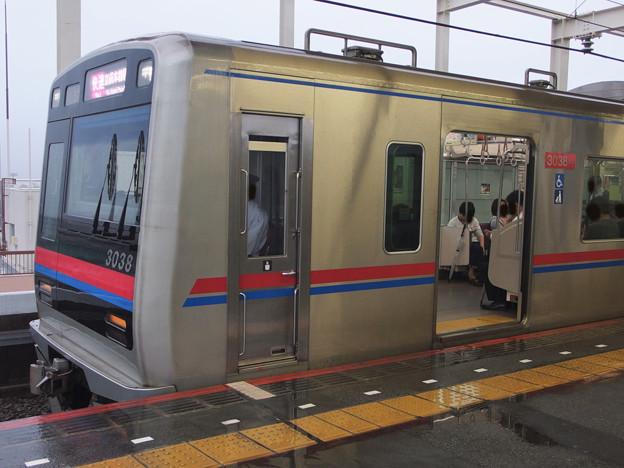 京成押上線青砥駅3番線 京成3038F快速成田空港行き(2)