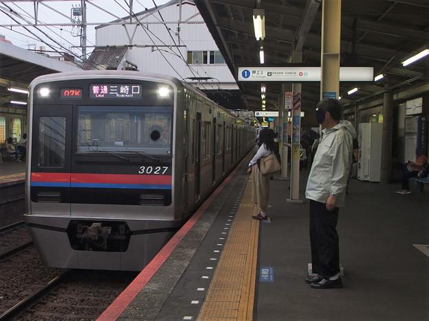 京成押上線立石駅1番線 京成3027F普通三崎口行き進入