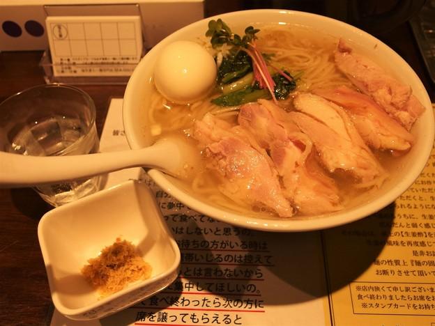 塩生姜らー麺専門店MANNISH 味玉肉増しらー麺大盛り