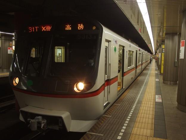 都営浅草線浅草駅2番線 都営5313Fエアポート快特高砂行き