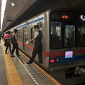 都営浅草線大門駅2番線 京成3818F通勤特急成田行き停止位置よし