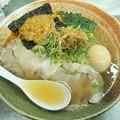 覆麺智R2年4月火曜限定 渡り蟹出汁の塩ラーメン(tpムール貝ソース、味玉)