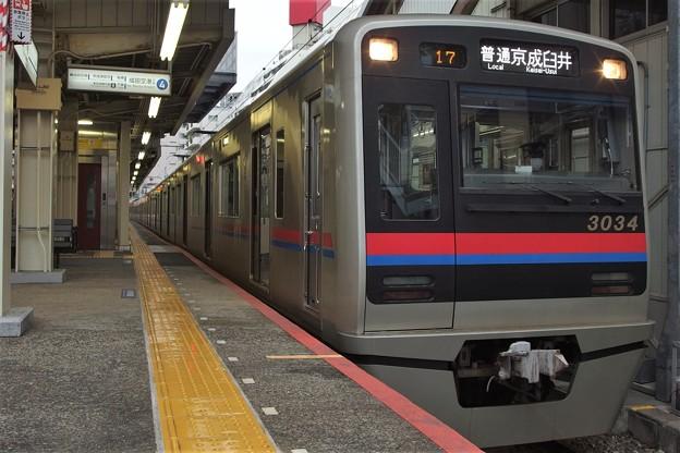 京成本線京成小岩駅4番線京成3034F普通京成臼井(うすい)行き(2)