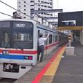 Photos: 北総線新鎌ヶ谷駅4番線 京成3408F普通印旛日本医大行き側面よし