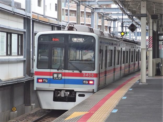 Photos: 北総線新鎌ヶ谷駅4番線 京成3408F普通印旛日本医大行き前方確認