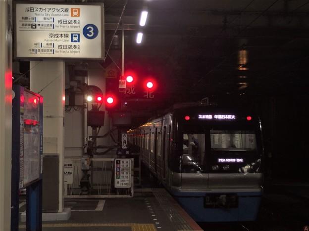 北総線高砂駅3番線 北総9118F特急印旛日本医大行き後方よし