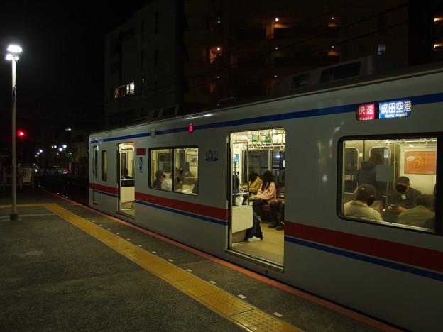 京成本線小岩駅3番線 京成3418F快速成田空港行き(2)