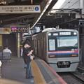 京成本線八幡駅1番線 京成3042F快速西馬込行き進入