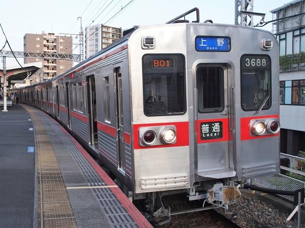 京成本線千住大橋駅1番線 京成3688F普通上野行き