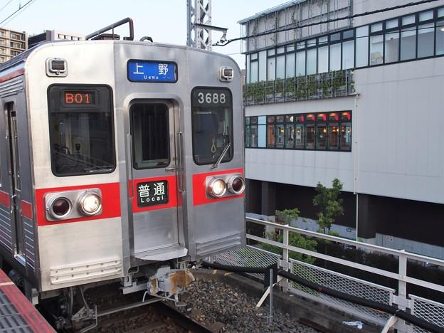 京成本線千住大橋駅1番線 京成3688F普通上野行き(3)