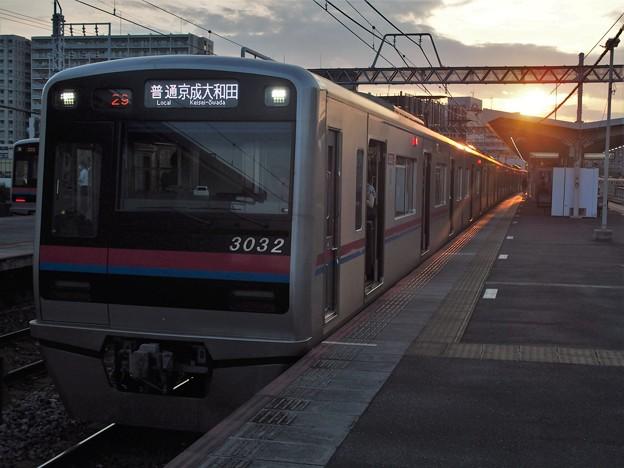 京成本線千住大橋駅3番線 京成3032F普通京成大和田行き