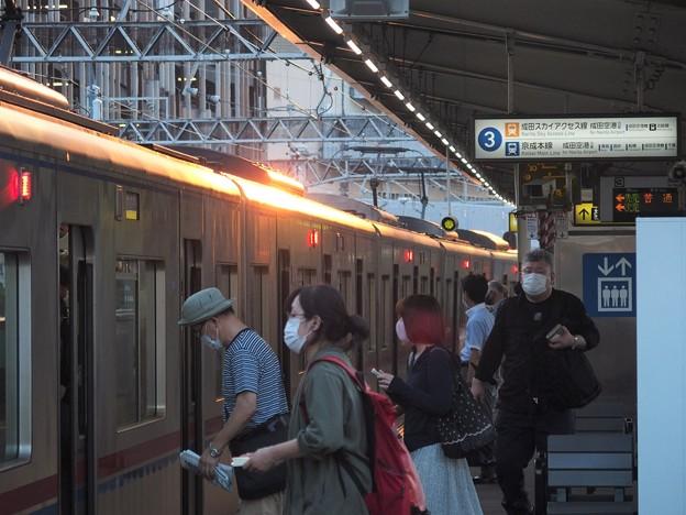 京成本線千住大橋駅3番線 京成3032F普通京成大和田行き(2)