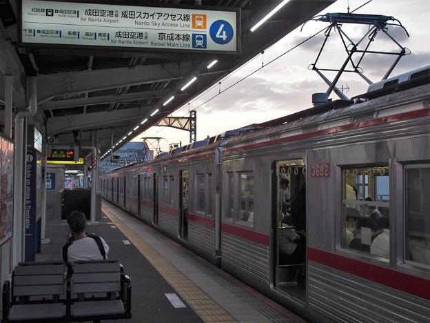 京成本線千住大橋駅4番線 京成3688F普通成田行き(3)