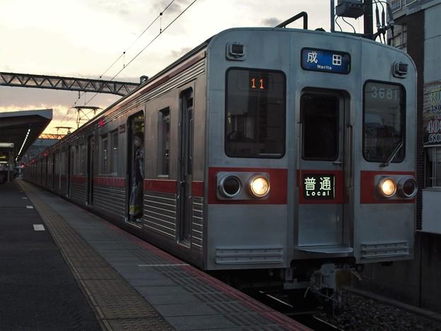 京成本線千住大橋駅4番線 京成3688F普通成田行き