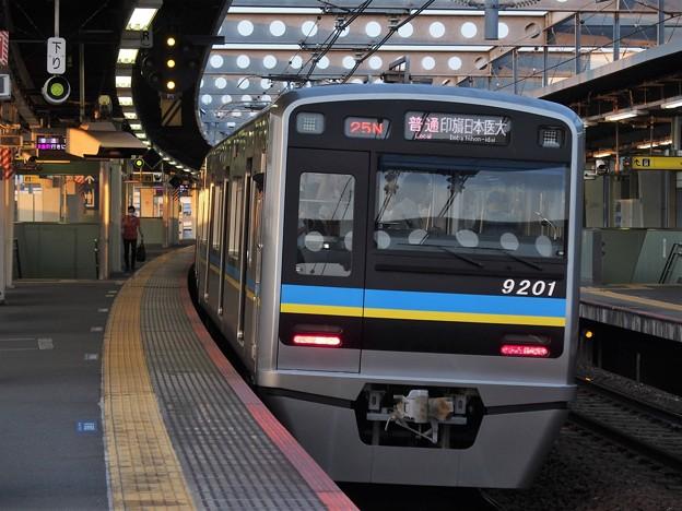 京成押上線八広駅2番線 北総9201F普通印旛日本医大行き前方確認