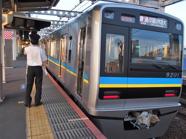 京成押上線八広駅2番線 北総9201F普通印旛日本医大行き側面