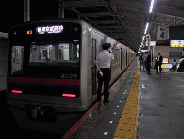 京成本線青砥駅4番線 京成3036F普通京成高砂行き反応点灯