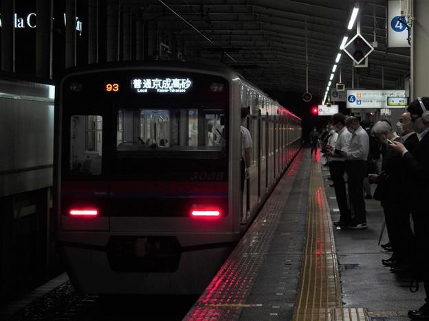 京成本線青砥駅4番線 京成3036F普通京成高砂行き前方確認